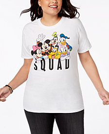 Disney Plus Size Cotton Squad Graphic T-Shirt