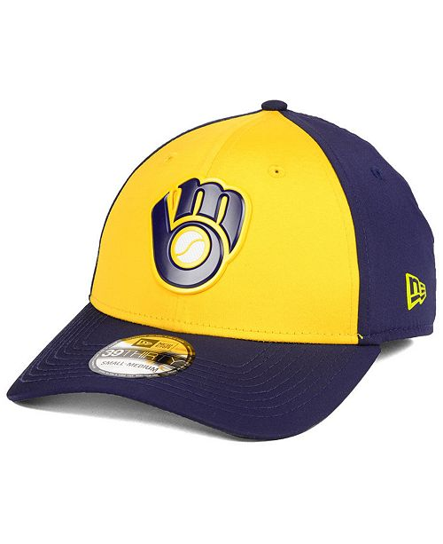 cheaper 42ed9 071ca New Era Milwaukee Brewers Batting Practice 39THIRTY Cap - Sports Fan ...