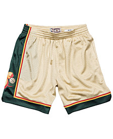 Mitchell & Ness Men's Seattle SuperSonics Gold Collection Swingman Shorts