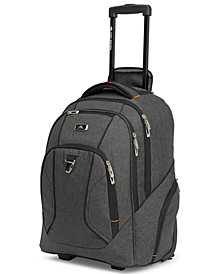 High Sierra Black Endeavor Wheeled Backpack