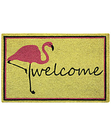 "Bacova Flamingo Welcome 18"" x 30"" Doormat"