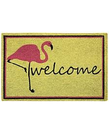 """Bacova Flamingo Welcome 18"""" x 30"""" Doormat"""
