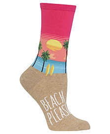 Hot Sox Women's Beach Crew Socks