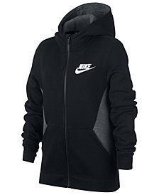 Nike Big Boys Colorblocked Zip-Up Hoodie
