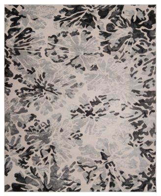 Steelo Bloom Silver 5' x 8' Area Rug