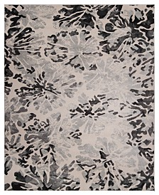 KM Home Steelo Bloom Silver 5' x 8' Area Rug