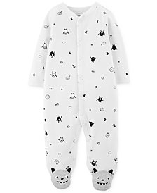Carter's Baby Boys Monster-Print Footed Cotton Coverall