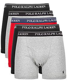 Polo Ralph Lauren Men's 5-Pk. Cotton Classic Boxer Briefs