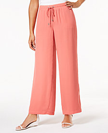 JM Collection Wide-Leg Drawstring Pants, Created for Macy's