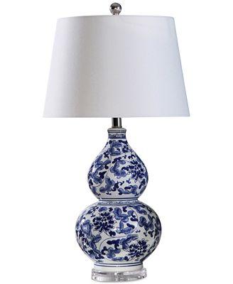 Abbyson Living Stanbury Blue Table Lamp Lighting Lamps Home