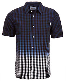 LRG Men's Jamrock Dip-Dyed Check Pocket Shirt