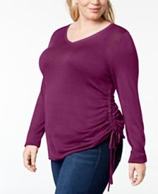 One A Plus Size Drawstring-Side Sweater