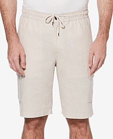 Men's Linen Blend Cargo Shorts