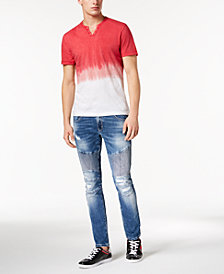I.N.C. Dip-Dyed T-Shirt & Moto Skinny Jeans, Created for Macy's
