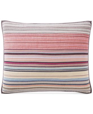 Rustic Yarn-Dyed Stripe 100% Cotton Standard Sham, Created for Macy's