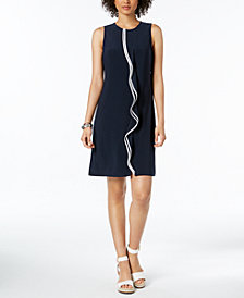 Tommy Hilfiger Sleeveless Ruffle Dress, Created for Macy's
