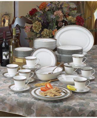 Noritake Crestwood Platinum 50-Pc. Service for 8 - Fine China - Macy\'s