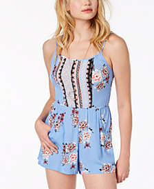 As U Wish Juniors' Printed Romper