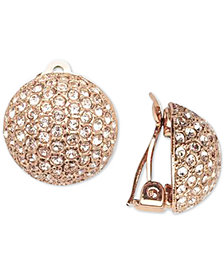 Nina Gold-Tone Pavé Dome Clip-on Earrings