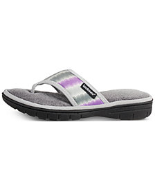 Isotoner Signature Women's Matte Satin Drew Flip-Flop with Memory Foam