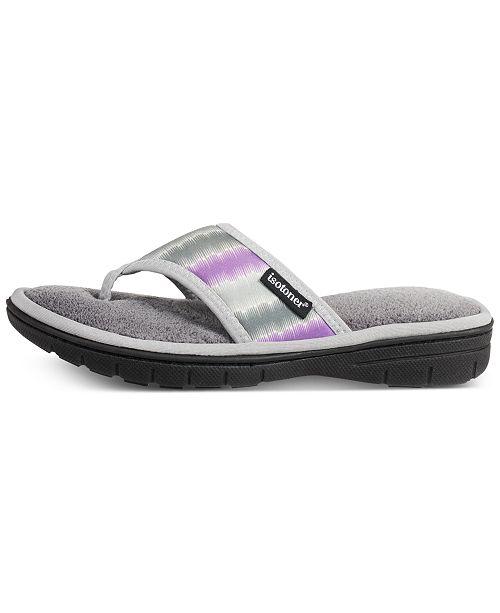 Isotoner Signature Women's Drew Flip-Flop Slippers, Online Only