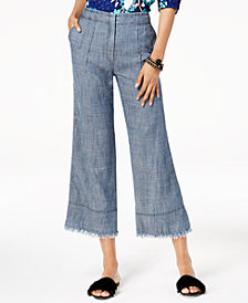 Trina Turk Cropped Wide-Leg Pants