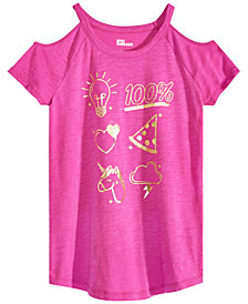 Epic Threads Big Girls Cold Shoulder Graphic-Print T-Shirt, Created for Macy's