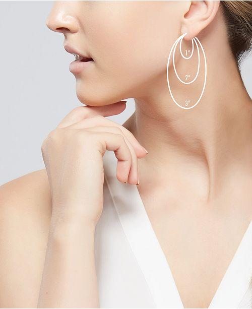Macy S Diamond Cut Hoop Earrings In 14k Gold 1 3 Inch Jewelry Watches