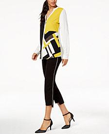 Alfani Colorblocked Top & Step-Hem Pants, Created for Macy's