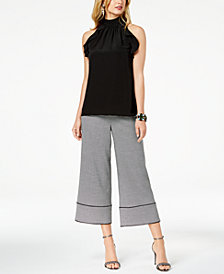 Zoe by Rachel Zoe Ruffled Top, Culotte Pants & Ella Two-Piece Dress Sandals, Created For Macy's