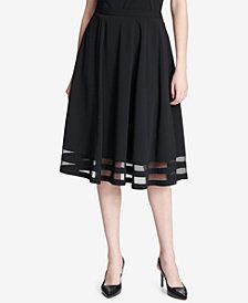 Calvin Klein Illusion-Trim A-Line Skirt