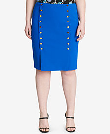 Calvin Klein Plus Size Embellished Pencil Skirt