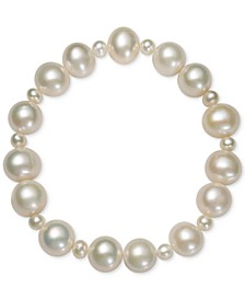 Cultured Freshwater Pearl (4mm, 9-1/2mm) Stretch Bracelet