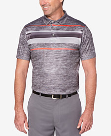 PGA TOUR Men's Pro Series Double-Knit Stripe Performance Polo