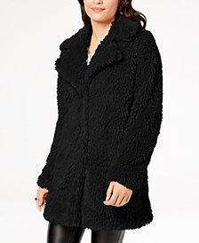 I.N.C. Faux-Fur Teddy Coat, Created for Macy's