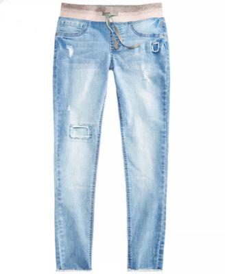 Big Girls Knit Waistband Skinny Jeans