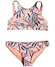 Roxy Big Girls Printed Two-Piece Swimsuit