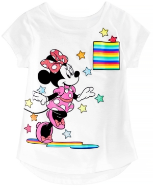 Disney Little Girls Minnie Mouse Starburst Cotton TShirt