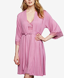 A Pea In The Pod Nursing Nightgown and Robe, Lace Trim