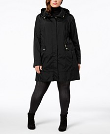 Plus Size Packable Water-Resistant Raincoat