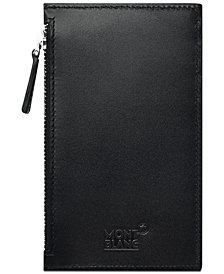 Montblanc Men's Meisterstück Black Leather Pocket Card Holder
