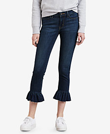 Levi's® 711 Ruffle-Hem Cropped Jeans