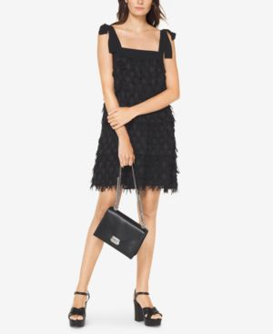 Michael Michael Kors Fringe-Trim Dress 6339169
