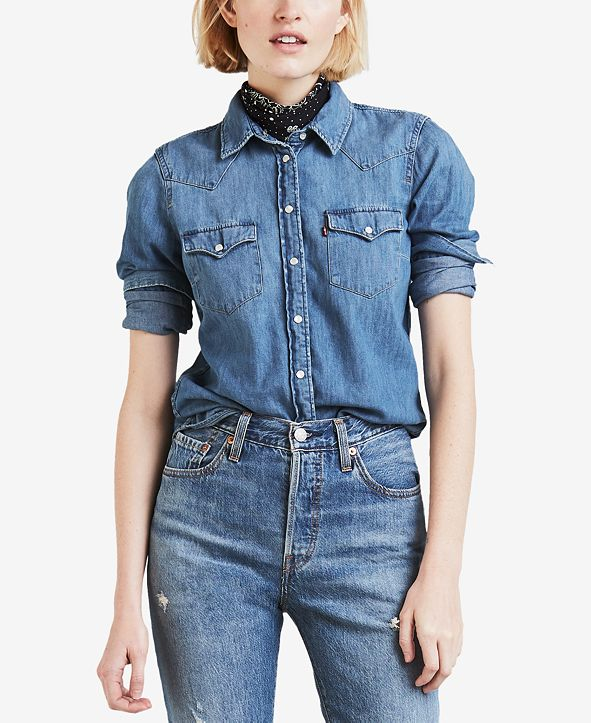 Levi's Women's Cotton Ultimate Western Denim Shirt