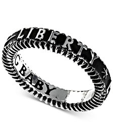 King Baby Men's Liberty Band in Sterling Silver