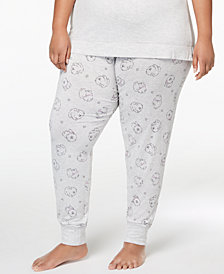 Jenni by Jennifer Moore Plus Size Printed Jogger Pajama Pants, Created for Macy's