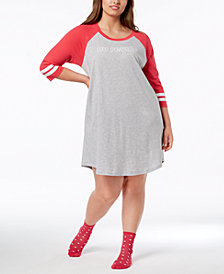 Jenni by Jennifer Moore Plus Size Graphic-Print Sleepshirt, Created for Macy's