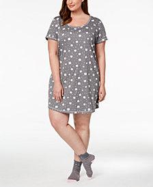 Jenni Plus Size Sleepshirt & Sock Set, Created for Macy's