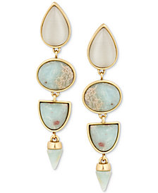Lucky Brand Gold-Tone Stone Statement Earrings
