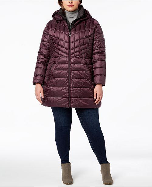 f0def2e2d65 Bernardo Plus Size Hooded Packable Puffer Coat   Reviews - Coats ...